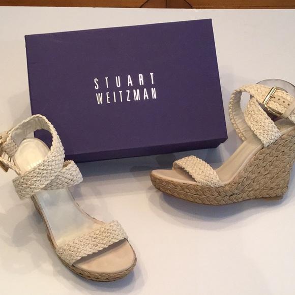 c548ef647efa Stuart Weitzman Shoes - STUART WEITZMAN ALEX CROCHET IVORY WEDGE SANDAL